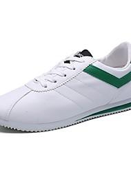 Masculino Tênis Conforto Borracha Primavera Outono Caminhada Cadarço Rasteiro Branco/Preto Vermelho/Branco Branco e Verde Menos de 2,5cm