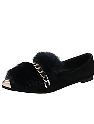 Women's Loafers & Slip-Ons Walking Formal Shoes Suede Fall Casual Dress Flat Heel Army Green Black Under 1in