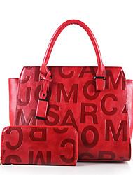 Damen Bag Sets PU Ganzjährig Normal Baguette Bag Reißverschluss Schwarz Rote Beige Braun