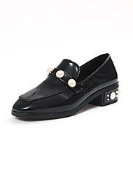 Damen Flache Schuhe Komfort PU Sommer Normal Walking Perle Flacher Absatz Schwarz Grün 5 - 7 cm