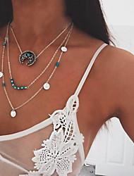 Жен. Слоистые ожерелья Круглый Овальной формы Круглой формы Геометрической формы Бижутерия Сплав Мода Богемия Стиль Панк По заказу