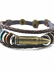 Europe and the United States trendy hot punk wind leather hand-woven bullets bracelet holiday gifts essential men and women are applicable