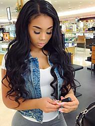 Parrucche piene del merletto dei capelli del merletto dei capelli del corpo di densità di 130% di umore naturale peruviano 100% capelli