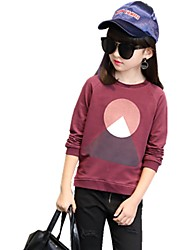 Girls' Solid Tee,Cotton Fall All Seasons ¾ Sleeve Regular