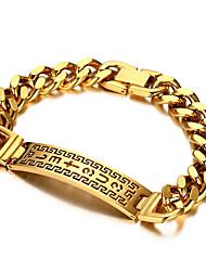 Men's Chain Bracelet Friendship Gothic Movie Jewelry Luxury Costume Jewelry Fashion Vintage Bohemian Punk Hip-Hop Rock Stretch Turkish