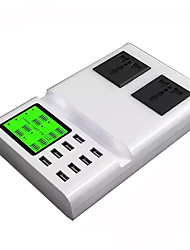 Cargador usb 8 puertos Estación de cargador de escritorio Con identificación inteligente Pantalla LCD Stand dock Enchufe UK Adaptador de