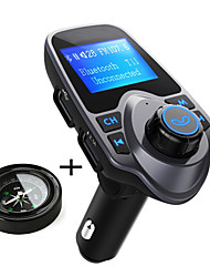 Original T11 Bluetooth Car Kit Handfree FM Transmitter MP3 Music Player Dual USB Car Charger Support TF Card U Disk Play