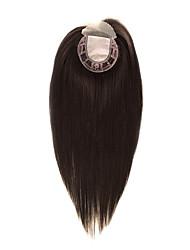 Uniwigs 5.55.5 parte delantera remy del cordón del pedazo del pelo humano y parte superior recta de seda hairpiece16 recto pulgadas para