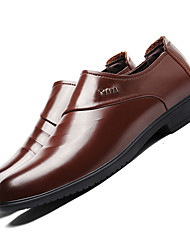 Men's Wedding Shoes Formal Shoes Driving Shoes Fall Winter TPU Wedding Dress Office & Career Low Heel Black Coffee Under 1in