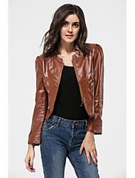 Мода PU кожа yuntuo®women большом ярдов пальто 11