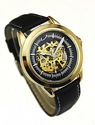 Муж. Модные часы Механические часы Механические, с ручным заводом Кожа Группа Черный