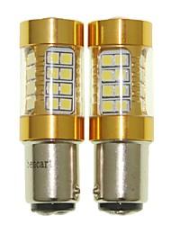 Sencart 2pcs 1142 ba15d lampadina lampeggiante ha condotto le lampade della lampadina inversa della coda dell'automobile (bianco / rosso /