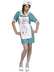 Einteilig/Kleid Cosplay Kostüme Skelett/Totenkopf Zombie Cosplay Fest/Feiertage Halloween Kostüme Vintage Kleider Schürze Mützen