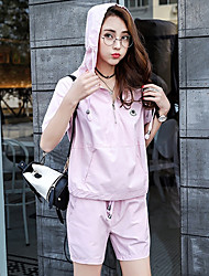 Pregnant Women Fashion Comfortable Cotton  Even the cap loose short sleeve blouse Blouse Joe Abdominal Two-Piece