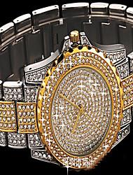 Жен. Модные часы Часы-браслет Имитационная Четырехугольник Часы Часы со стразами Японский Кварцевый Цветной Имитация Алмазный Нержавеющая