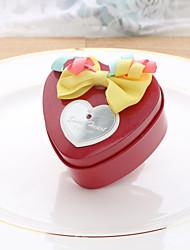 10 Фавор держатель-В форме сердца Нетканое полотно Металл Коробочки Горшки и банки для конфет