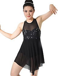 MiDee Dresses Children's Performance Spandex /  Sequined / Tulle Bow(s) / Crystals/Rhinestones / Paillettes  / Tiers Ballet