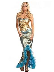 Une Pièce/Robes Sirène Conte de Fée Cosplay Fête / Célébration Déguisement d'Halloween Rétro Other Robes Halloween CarnavalFéminin