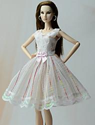 Princesa Vestidos Vestidos Para Boneca Barbie Vestidos Para Menina de Boneca de Brinquedo