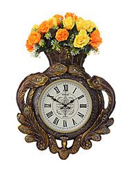 Модерн Традиционный Деревенский Повседневный Ретро Настенные часы,Часы Животный принт Резина В помещении Часы