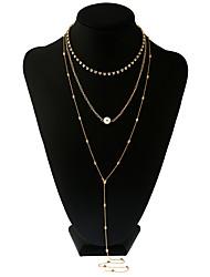 1Set Women's Body Jewelry Body Chain Fashion Hip-Hop Personalized Rock Imitation Pearl Alloy Jewelry For Stage Club Street