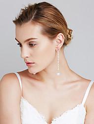 Femme Boucles d'oreilles Perle imitée Mode euroaméricains Bijoux Movie Noël Cuivre Forme de Cercle Bijoux PourMariage Quotidien Soirée