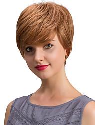 Refrescante encantadoras pelucas de pelo humano corto para las mujeres