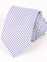 Для мужчин Шейные аксессуары Галстук,Все сезоны Полиэстер 90% Wool10% шелк тутового шелкопряда С принтом