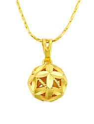 Жен. Ожерелья с подвесками Ожерелья-цепочки Круглой формы В форме цветка В форме листа ПозолотаБазовый дизайн Мода Pоскошные ювелирные