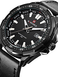 New Luxury Brand NAVIFORCE Watches Men Quartz Hour Date Leather Clock Man Sports Army Military Wrist Watch Relogio Masculino