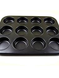 2 PCS Cake mold bakeware Carbon steel non-stick Cup Mould round 12 even baking cake baking sheet DIY mold egg tarts bakeware oven