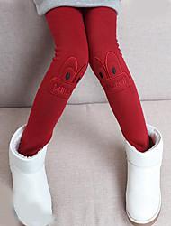 Para Meninas Calças Animal Inverno Lã