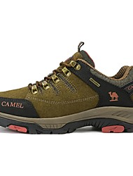 Hiking Shoes Camel Men's Outdoor Sport Casual Durable Cow Leather  Color Khaki/Army Green