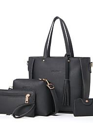 Damen Bag Sets PU Ganzjährig Normal Baguette Bag Reißverschluss Schwarz Rosa Grau Braun