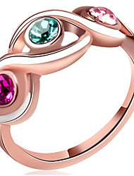 Midi Rings Band Rings Women's Fashion Elegant Multicolor Flower Style Rings For Wedding Party  Movie Gift Jewelry