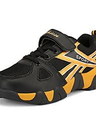 Garçon Chaussures d'Athlétisme Semelles Légères Printemps Automne Tulle Marche Décontracté Scotch Magique Talon PlatBleu de minuit Noir