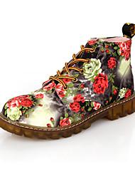 Для женщин Ботинки Удобная обувь Оригинальная обувь В ковбойском стиле Армейские ботинки Осень Зима Полиуретан Для прогулок Повседневные