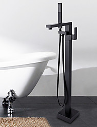 Montée au sol Soupape céramique Bronze huilé , Robinet de baignoire