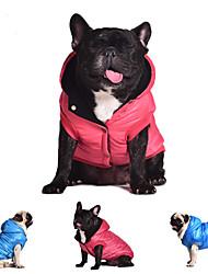 pejsky Kabáty mikiny Kamizelka Červená Modrá Šedá Oblečení pro psy Zima Jaro/podzim Jednobarevné Běžné/Denní Zahřívací