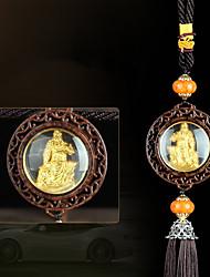 Pingentes automotivos diy pendentes de carro guan yu upscale sided&Ornamentos de cristal jade