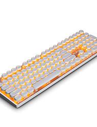 Ajazz firstblood punk механическая игровая клавиатура, круглая клавиша, синие переключатели, 108 клавиш макет подсветка