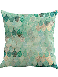 1 Pcs Fashion Geometry Blue Scales Pillow Cover Personality Sofa Pillow Case Home Decor