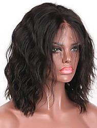 Vague naturelle de haute qualité 5x4.5 perruque en dentelle à base de soie pleine longueur 8-16 pouces bob cheveux mi-longs 130% densité