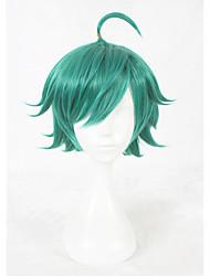 Perucas sintéticas Sem Touca Curto Verde Faux Locs Wig Peruca para Cosplay Perucas para Fantasia