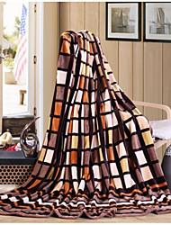 Super Suave Xadrez Poliéster cobertores