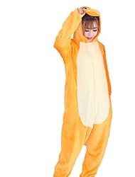 Kigurumi Pajamas Dragon Festival/Holiday Animal Sleepwear Halloween Fashion Embroidered Flannel Fabric Cosplay Costumes Kigurumi For