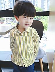 Boys' Stripe Shirt,Cotton Polyester Summer Long Sleeve Regular