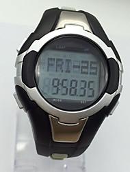 Homens Relógio Esportivo Relógio de Pulso Relogio digital Chinês Digital Calendário alarme Monitor de Batimento Cardíaco Cronômetro