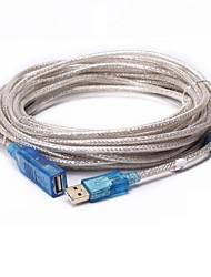 USB 2.0 Prolunga, USB 2.0 to USB 2.0 Prolunga Maschio/femmina 10.0M (30ft)