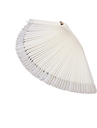 Nail Tips False Nails Nail Art Salon Design 50 color milky white fan shape nail display color card